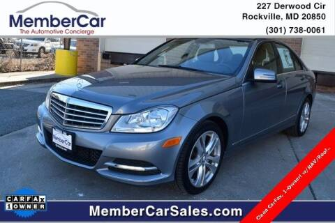 2013 Mercedes-Benz C-Class for sale at MemberCar in Rockville MD
