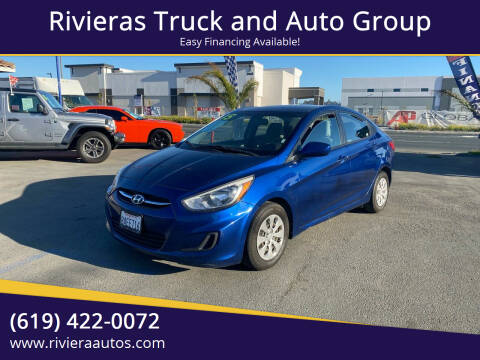 2015 Hyundai Accent for sale at Rivieras Truck and Auto Group in Chula Vista CA