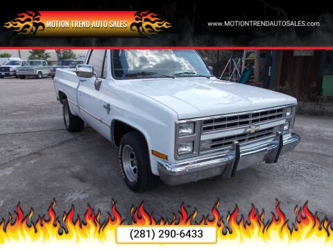1987 Chevrolet R/V 10 Series for sale at MOTION TREND AUTO SALES in Tomball TX