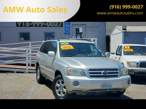 2006 Toyota Highlander for sale at AMW Auto Sales in Sacramento CA