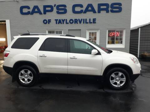 2012 GMC Acadia for sale at Caps Cars Of Taylorville in Taylorville IL