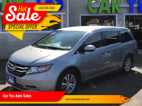 2016 Honda Odyssey for sale at Car Yes Auto Sales in Baltimore MD