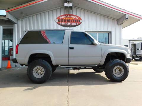 1994 Chevrolet Blazer for sale at Motorsports Unlimited in McAlester OK