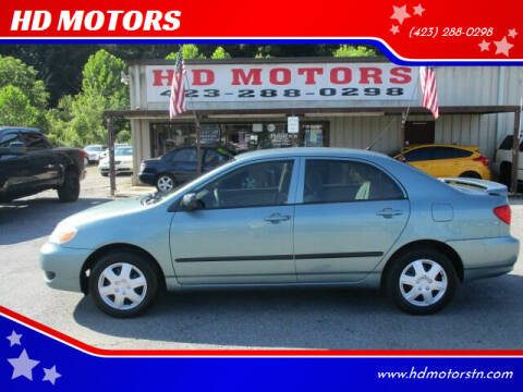 2005 Toyota Corolla for sale at HD MOTORS in Kingsport TN