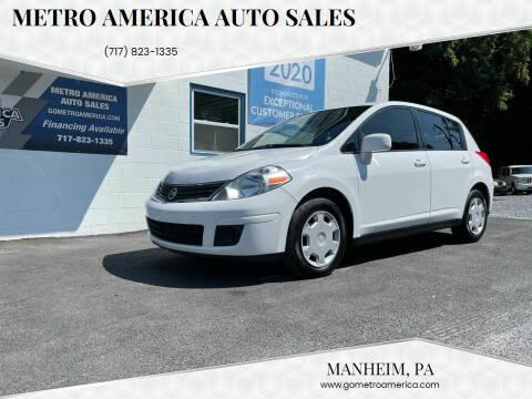 2012 Nissan Versa for sale at METRO AMERICA AUTO SALES of Manheim in Manheim PA