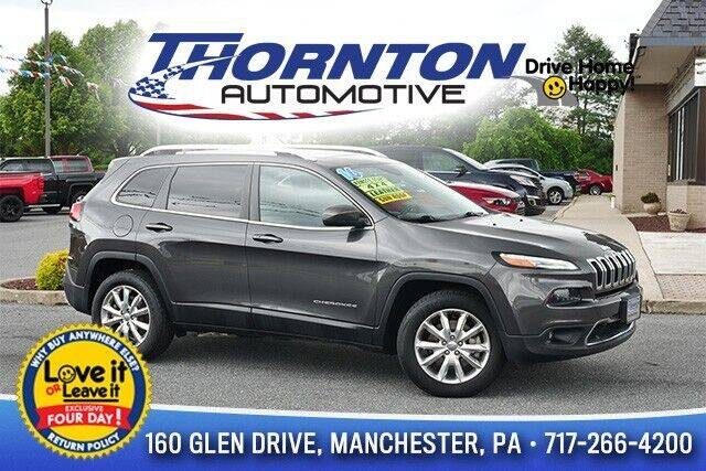 2016 Jeep Cherokee for sale in Manchester, PA