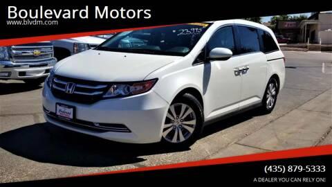 2014 Honda Odyssey for sale at Boulevard Motors in St George UT