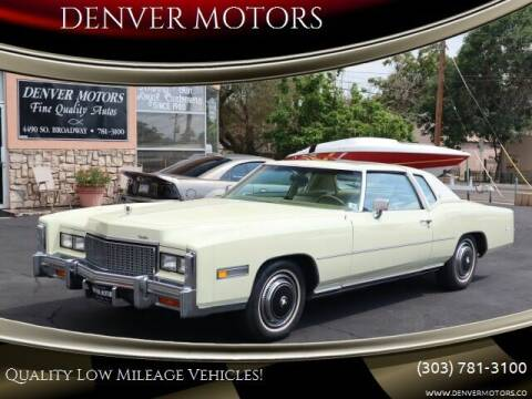 1976 Cadillac Eldorado Coupe for sale at DENVER MOTORS in Englewood CO