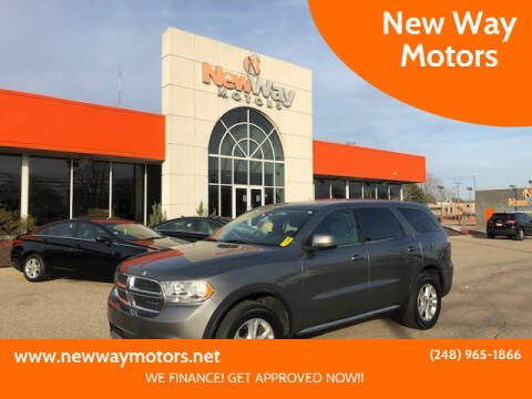 2012 Dodge Durango for sale at New Way Motors in Ferndale MI