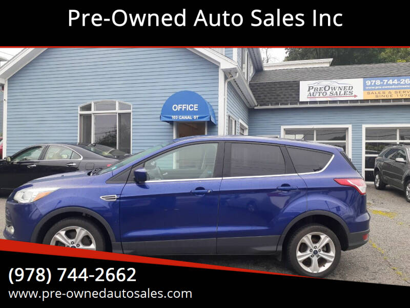 2016 Ford Escape for sale at Pre-Owned Auto Sales Inc in Salem MA