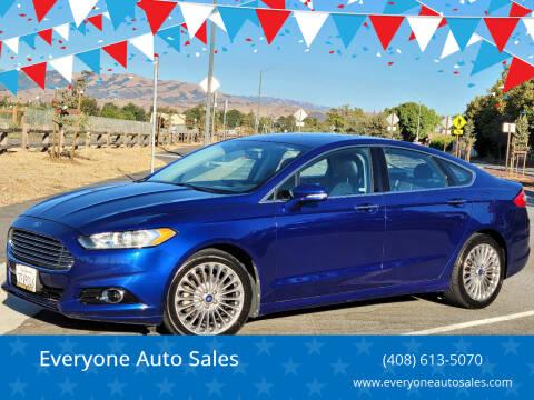 2013 Ford Fusion for sale at Everyone Auto Sales in Santa Clara CA
