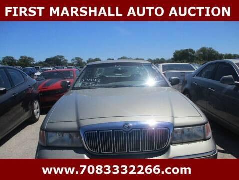 2000 Mercury Grand Marquis for sale at First Marshall Auto Auction in Harvey IL