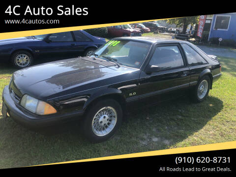 1989 Ford Mustang for sale at 4C Auto Sales in Wilmington NC