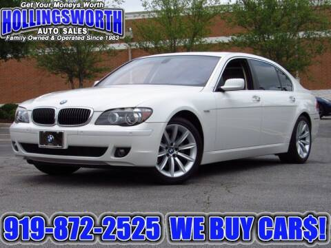 2008 BMW 7 Series for sale at Hollingsworth Auto Sales in Raleigh NC