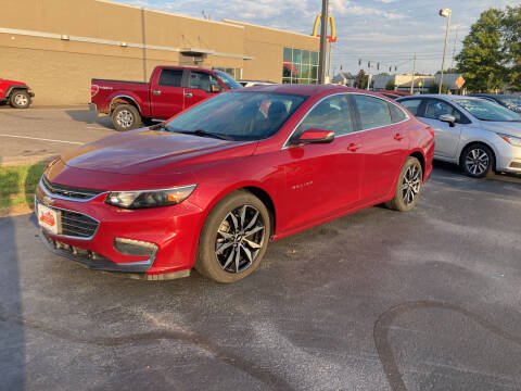 2018 Chevrolet Malibu for sale at McCully's Automotive in Benton KY