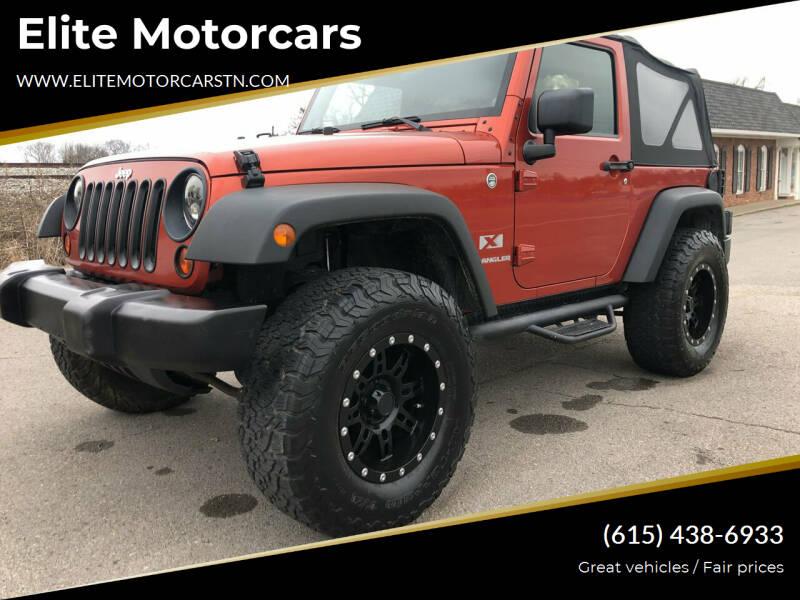 2009 Jeep Wrangler for sale at Elite Motorcars in Smyrna TN