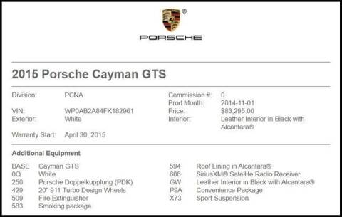 2015 Porsche Cayman for sale at RAC Performance in Carrollton TX