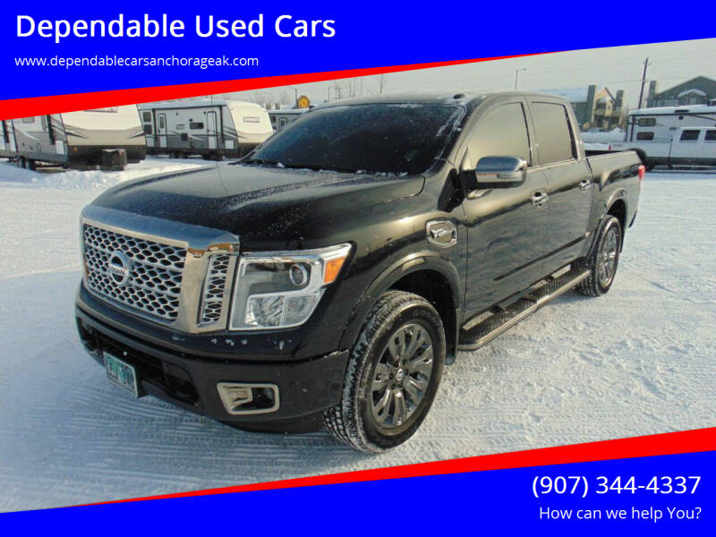 2017 Nissan Titan for sale at Dependable Used Cars in Anchorage AK