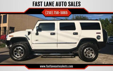 2008 HUMMER H2 for sale at FAST LANE AUTO SALES in San Antonio TX