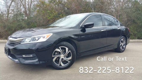 2016 Honda Accord for sale at Houston Auto Preowned in Houston TX
