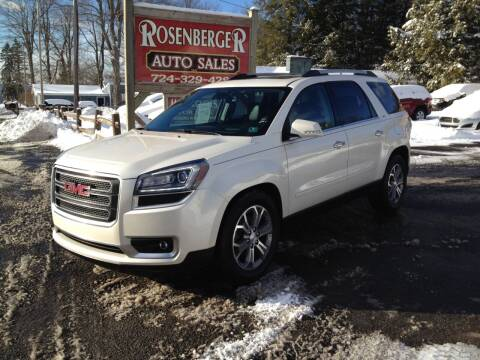 2014 GMC Acadia for sale at Rosenberger Auto Sales LLC in Markleysburg PA