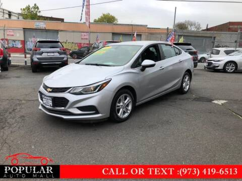 2017 Chevrolet Cruze for sale at Popular Auto Mall Inc in Newark NJ