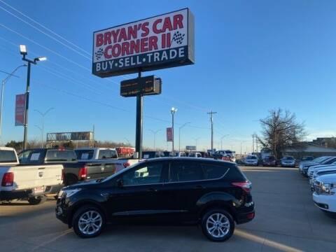 2017 Ford Escape for sale at Bryans Car Corner in Chickasha OK