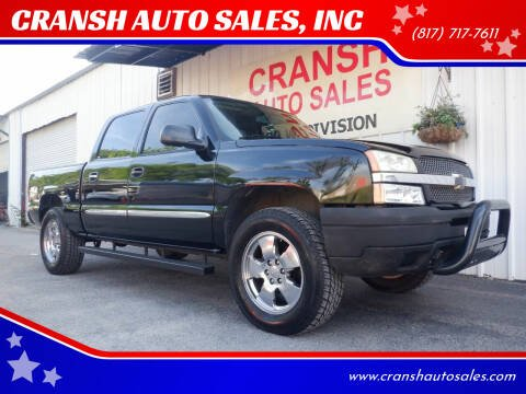 2007 GMC Sierra 1500 Classic for sale at CRANSH AUTO SALES, INC in Arlington TX