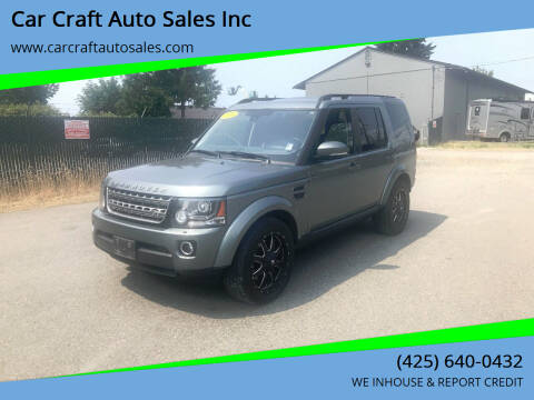 2014 Land Rover LR4 for sale at Car Craft Auto Sales Inc in Lynnwood WA