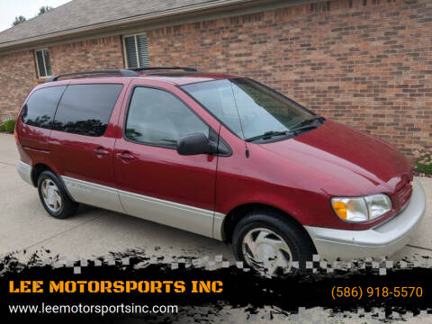 2000 Toyota Sienna for sale at LEE MOTORSPORTS INC in Mount Clemens MI