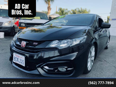 2014 Honda Civic for sale at AD Car Bros, Inc. in Whittier CA