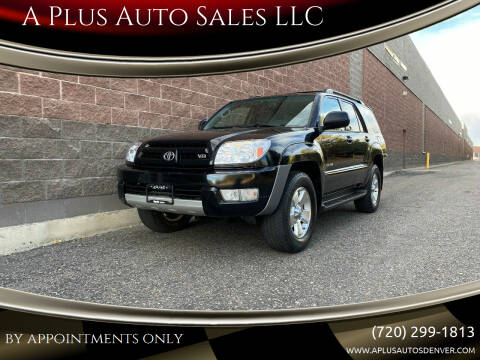 2003 Toyota 4Runner for sale at A Plus Auto Sales LLC in Denver CO