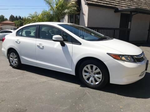 2012 Honda Civic for sale at Three Bridges Auto Sales in Fair Oaks CA