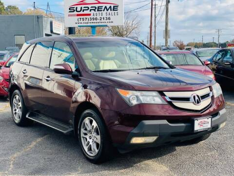 2009 Acura MDX for sale at Supreme Auto Sales in Chesapeake VA