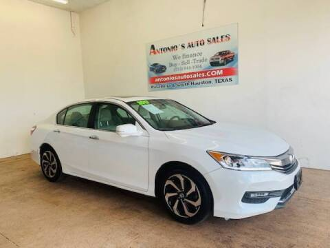 2017 Honda Accord for sale at Antonio's Auto Sales in South Houston TX