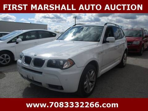 2006 BMW X3 for sale at First Marshall Auto Auction in Harvey IL