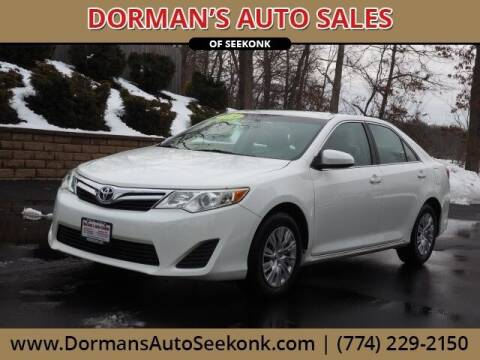 2014 Toyota Camry for sale at DORMANS AUTO CENTER OF SEEKONK in Seekonk MA