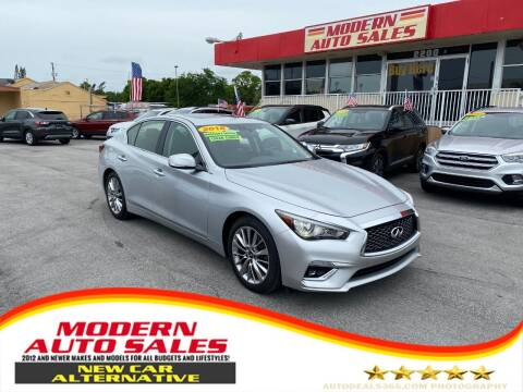 2018 Infiniti Q50 for sale at Modern Auto Sales in Hollywood FL