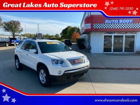 2012 GMC Acadia for sale at Great Lakes Auto Superstore 2 in Waterford MI