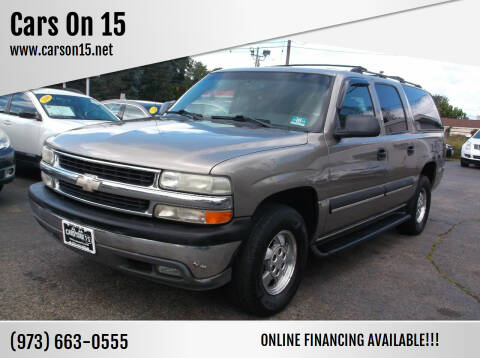 2003 Chevrolet Suburban for sale at Cars On 15 in Lake Hopatcong NJ