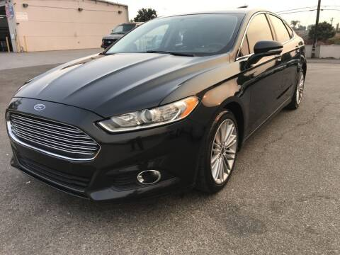 2013 Ford Fusion for sale at Quality Car Sales in Whittier CA