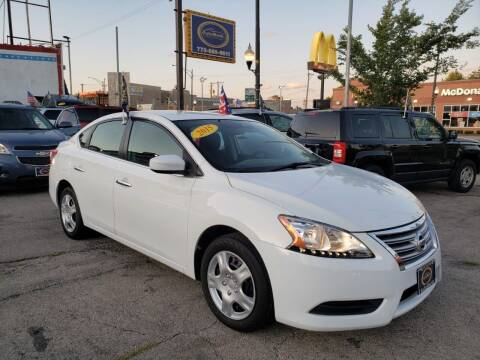 2015 Nissan Sentra for sale at AutoBank in Chicago IL