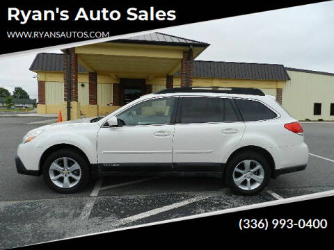 2013 Subaru Outback for sale at Ryan's Auto Sales in Kernersville NC