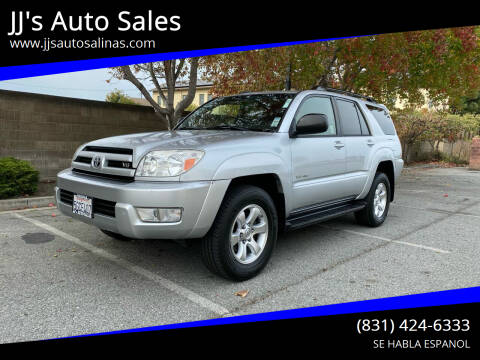 2004 Toyota 4Runner for sale at JJ's Auto Sales in Salinas CA