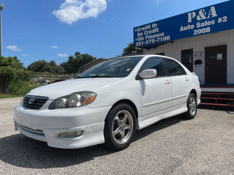 2007 Toyota Corolla for sale at P & A AUTO SALES in Houston TX