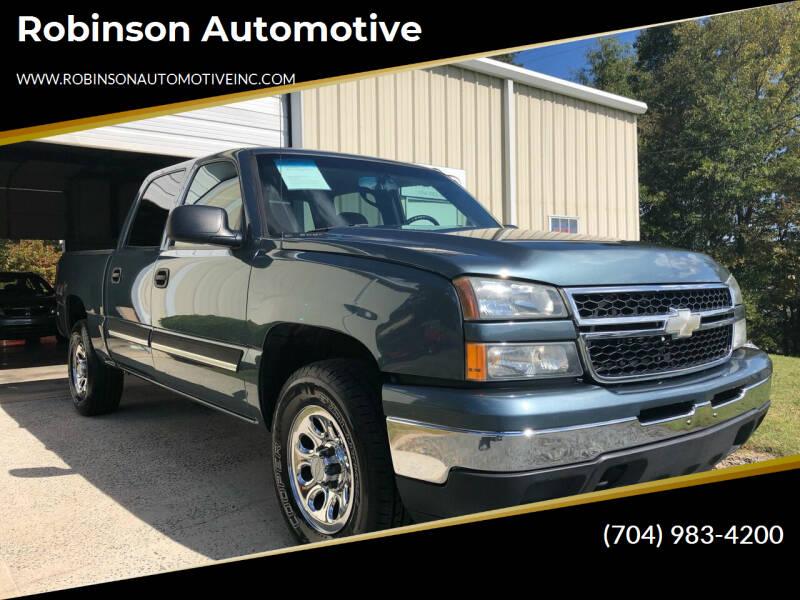 2006 Chevrolet Silverado 1500 for sale at Robinson Automotive in Albemarle NC