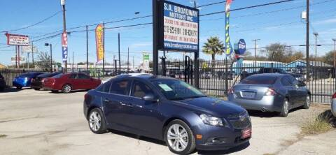 2013 Chevrolet Cruze for sale at S.A. BROADWAY MOTORS INC in San Antonio TX