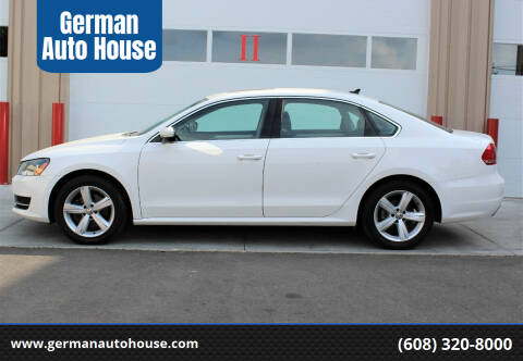 2013 Volkswagen Passat for sale at German Auto House in Fitchburg WI