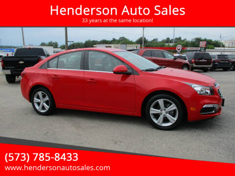 2015 Chevrolet Cruze for sale at Henderson Auto Sales in Poplar Bluff MO
