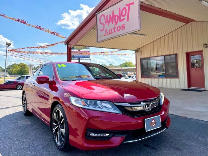 2016 Honda Accord for sale at Sandlot Autos in Tyler TX